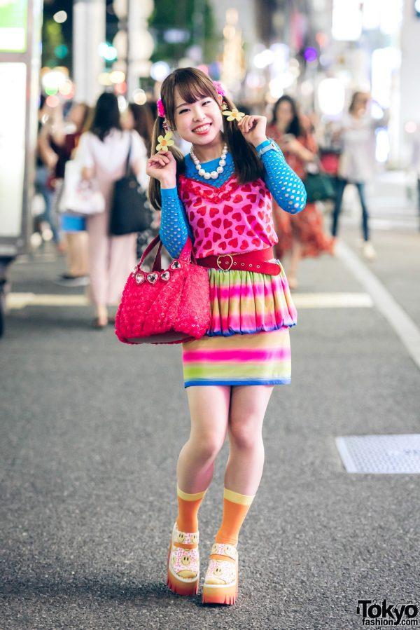 Twin-Tailed Harajuku Girl in Kawaii Fashion w/ Anpontan, Galaxxxy, Jeremy Scott, Unfinished & Don Don Down on Wednesday