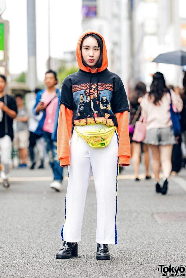 Layered Eclectic Fashion in Harajuku w/ Kinji, (ME)Harajuku & Forever21