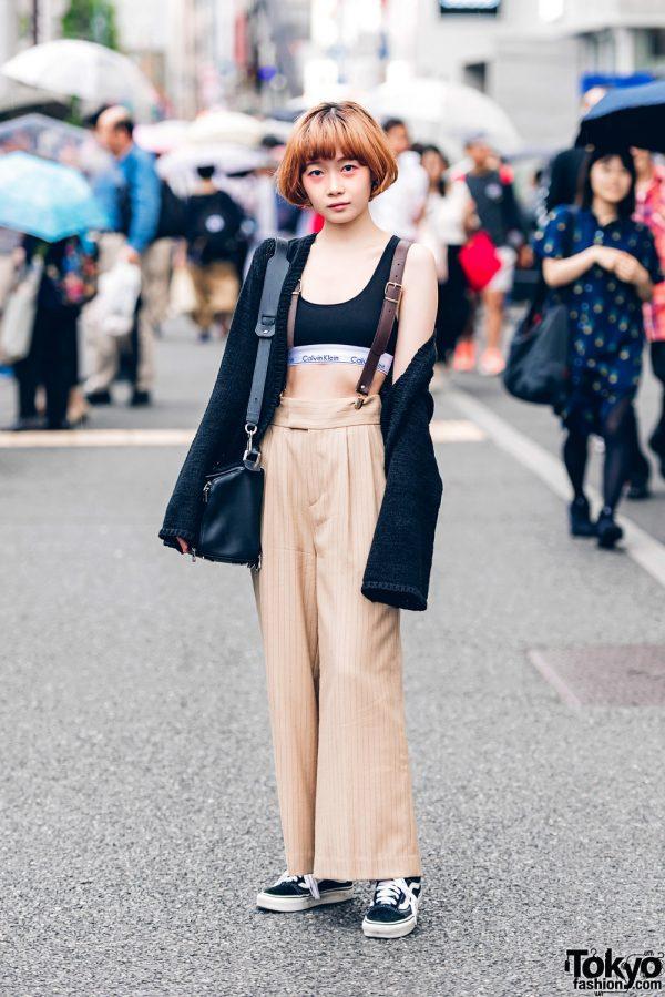 Harajuku Girl in Emoda, Calvin Klein, Snidel, Vans & Loewe Puzzle