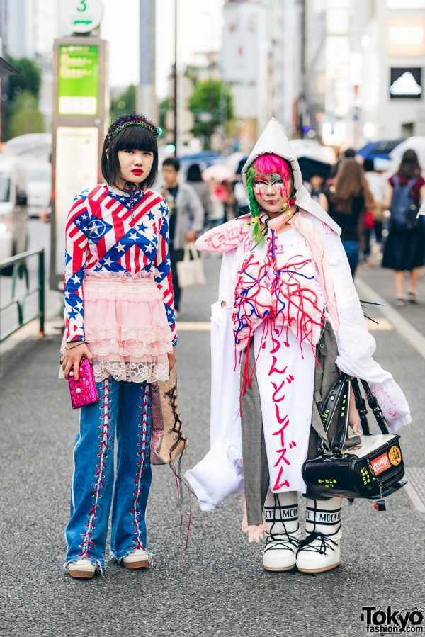 Harajuku Girls in Statement Street Outfits w/ Haruno, Dog Harajuku, Faith Tokyo, Chinpira, Fuki, Disaster Prevention & Nude Trump