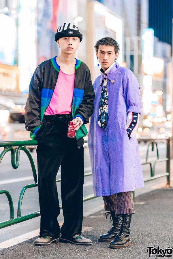 Harajuku Guys in Streetwear Styles w/ Dickies, Tokyo Human Experiments, Kappa & Dr. Martens