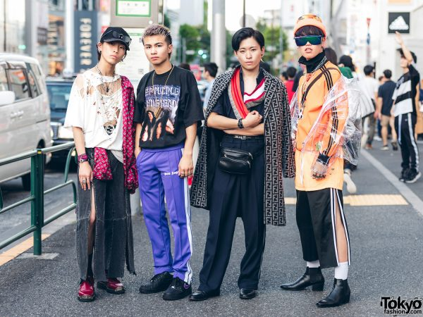 Harajuku Guys in Streetwear Looks w/ Vetements, Balenciaga, Hip Hop, Palm Angels, Nike, Fendi, Facetasm, YSL, Adidas, Abalone & LAD Musician
