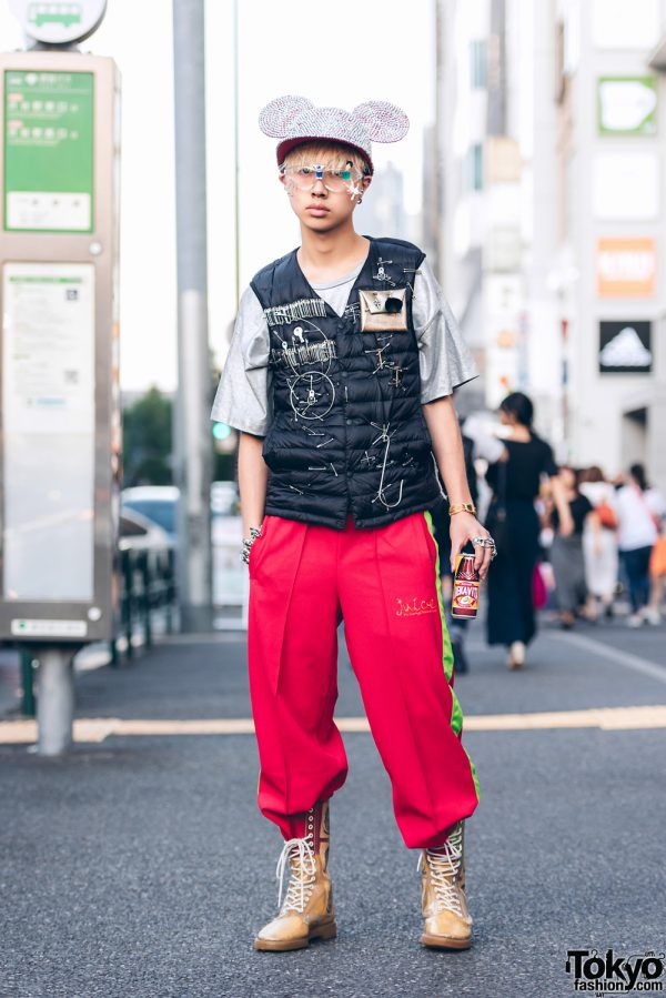 Harajuku Guy in Remake Fashion Street Style w/ UNIQLO, Dog Harajuku & Tokyo Human Experiments