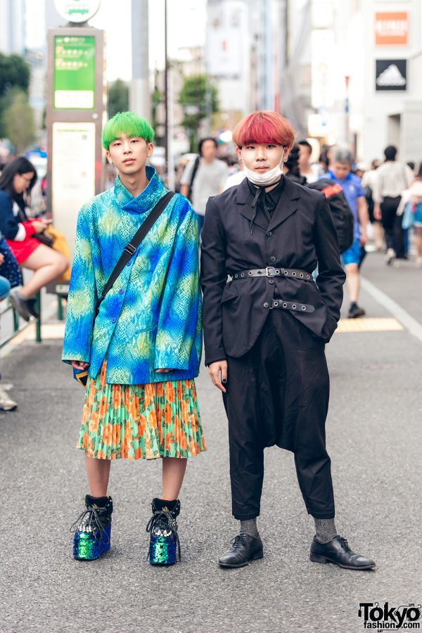 Japanese Eclectic Vintage & All Black Street Styles w/ YRU, Comme des Garcons & 80s Junko Shimada