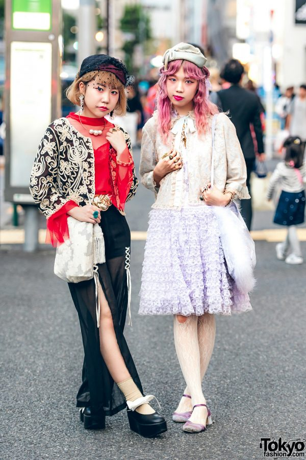 Harajuku Teens in Colorful Retro Fashion w/ Barrack Room, Tokyo Bopper, Gaijin, Yakusoku, Melange, Grimoire & The Virgin Mary