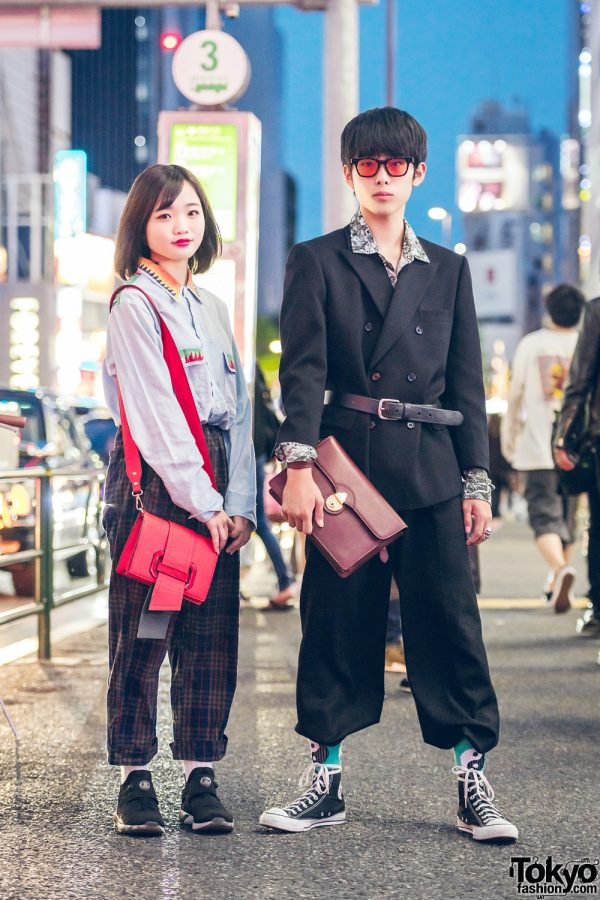 Harajuku Teens in Kinji, White Mountaineering, Burberry, Resale Items, Converse & Reebok