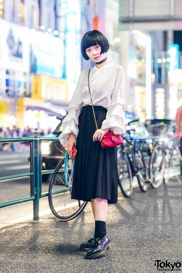 Chic Minimalist Fashion Style in Harajuku w/ Comme des Garcons, 3/4 Three Quarter, Leap, Dr. Martens & Gucci