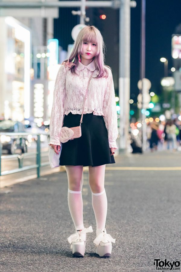 Pastel-Haired Harajuku Girl in Swankiss, Cecil McBee, RoseMarie Seoir & Kinji