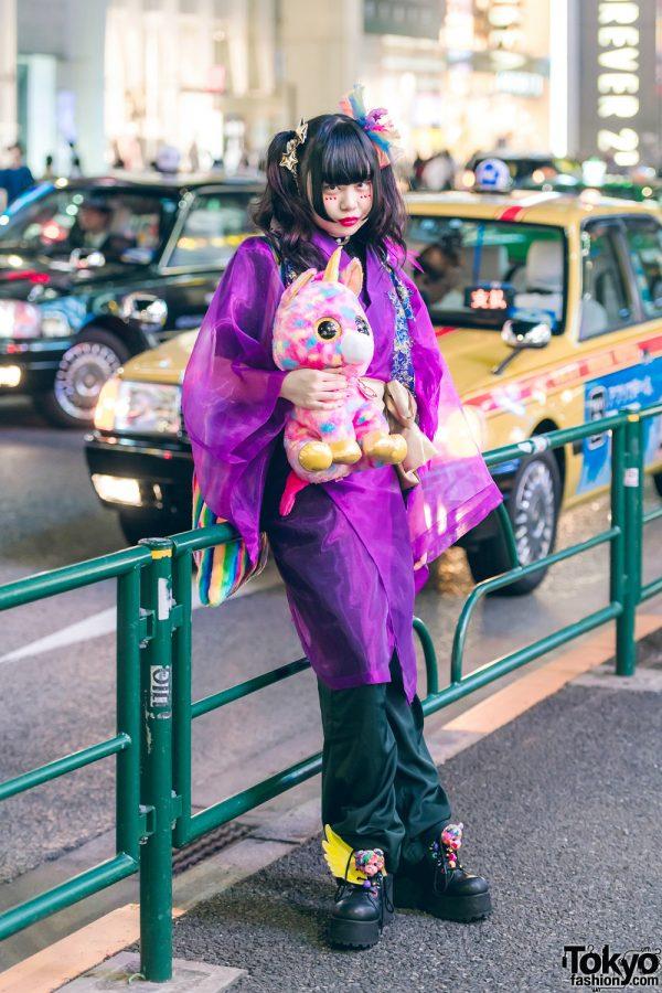 Harajuku Girl in Kawaii Kimono Street Style w/ Boutique Takenoko, 6%DOKIDOKI, Kobinai, WEGO & Spinns