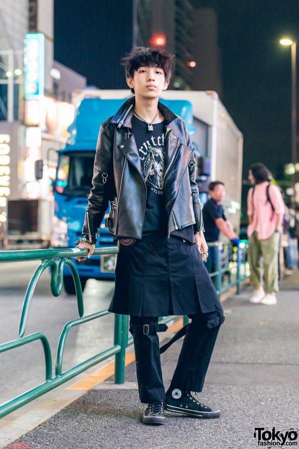 Harajuku Punk In All Black Streetwear Look w/ Fetis, Sexy Dynamite London, Crutches, T.H.E & Converse