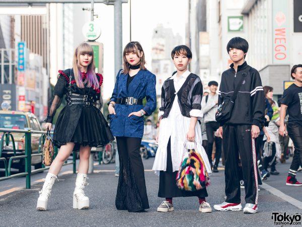 Harajuku Friends in Dark Streetwear Styles w/ Gosha Rubchinskiy, Thrift Tokyo, Yosuke & Vivenne Westwood