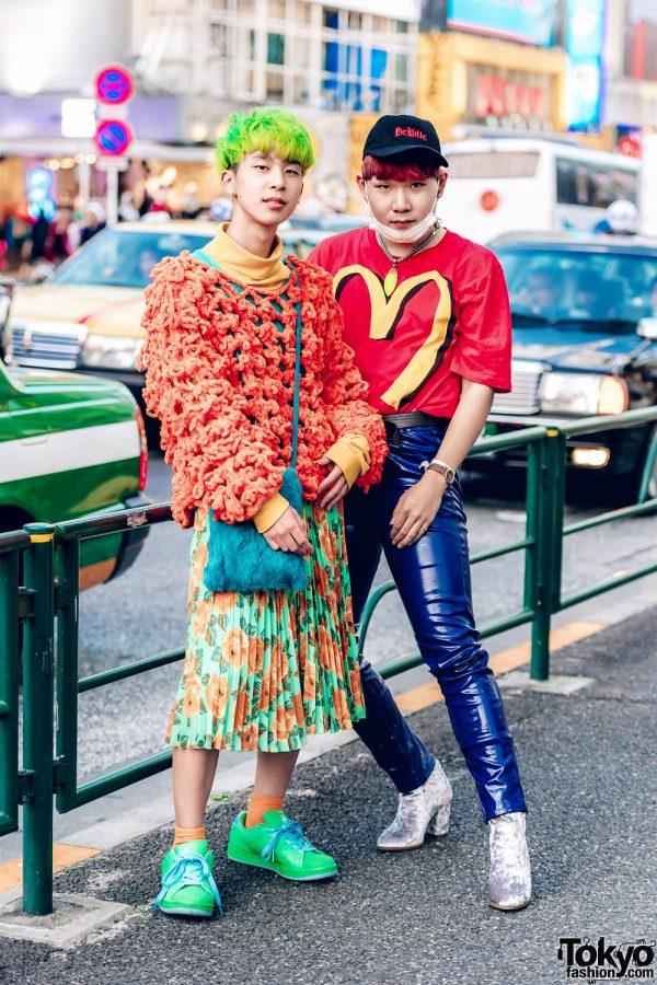 Colorful Retro Vintage Fashion in Harajuku w/ Ice Cream, Moschino, Dog Harajuku, Forever21, Gucci & Versace