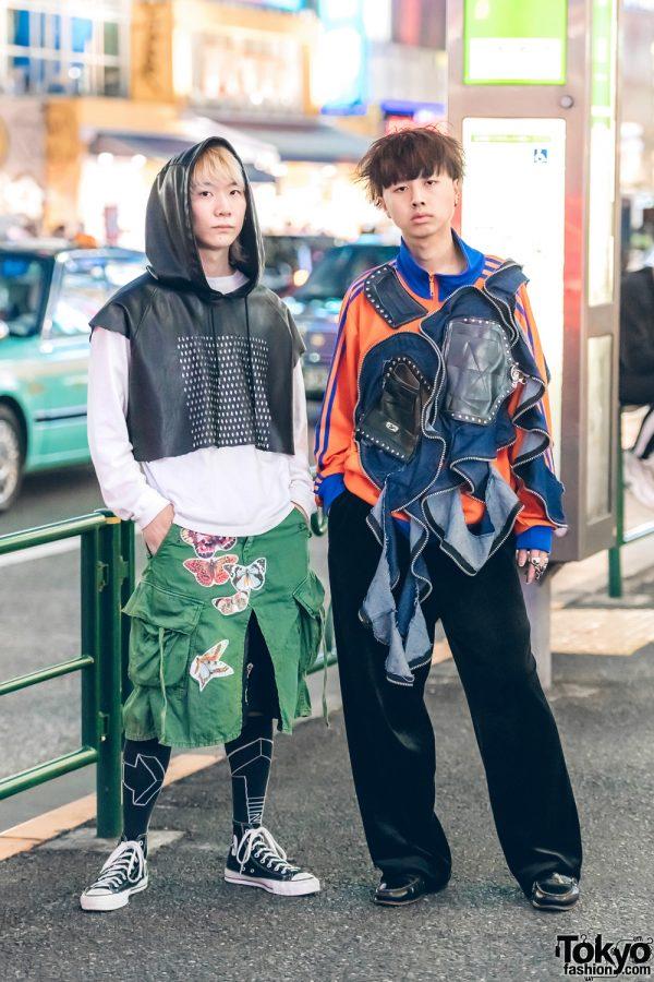 Harajuku Guys in Statement Streetwear Looks w/ Danke Shon, Converse, Y-3, Vans, Remake Adidas, Christian Dior & Tokyo Human Experiments