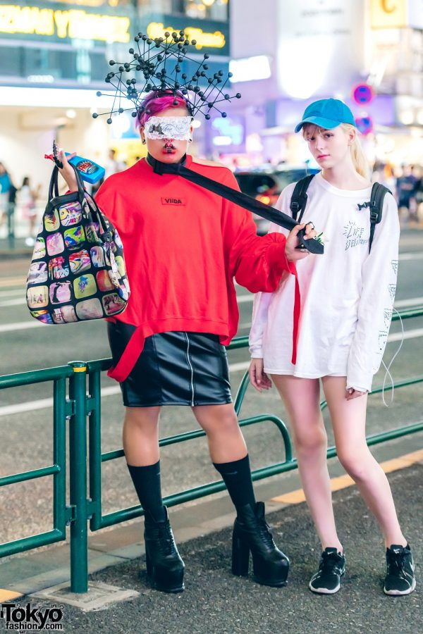 Harajuku Duo in Casual vs Statement Street Styles w/ Viida, Nike, Forever21, Longchamp x Jeremy Scott, Syro, Moschino & The North Face