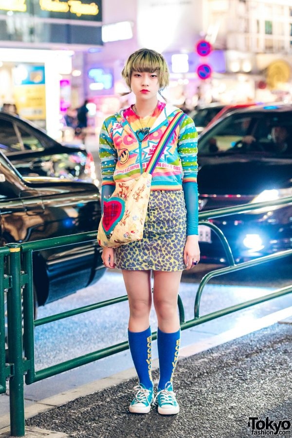 Japanese Mixed Prints Kawaii Fashion w/ K.L.C., Thank You Mart, Moussy, Converse & A Handmade Quilted Bag