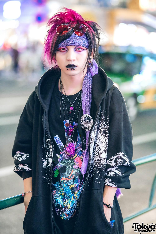 Japanese Designer W Pink Hair Dark Harajuku Street