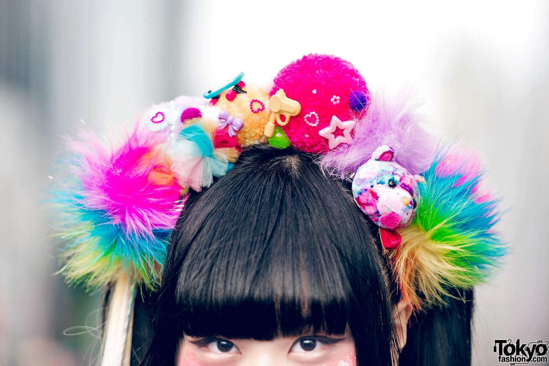 Kawaii Mixed Prints Harajuku Fashion In Tokyo W/ Galaxxxy