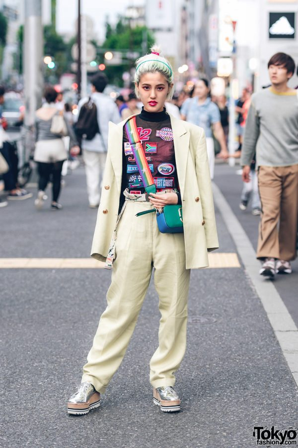 Women's Suit Street Fashion in Tokyo w/ Funktique Tokyo, Forever21, Wall & Jeffrey Campbell