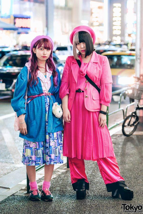 Pink & Blue Streetwear Styles by Harajuku Girls w/ RRR by Sugar Spot Factory, Kilo Shop, Bubbles, New Balance, RASPBERRYPIE, Kinji & Kiki