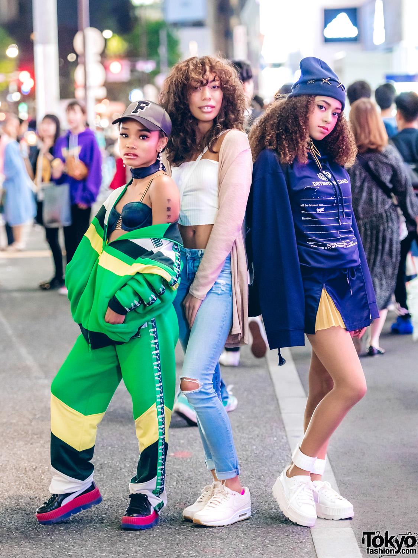 5a9d80bdc40713 Tokyo Girls Wearing Fenty x Puma Street Styles in Harajuku