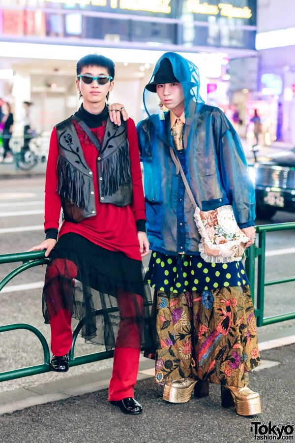 Harajuku Guys in Layered Street Fashion w/ Yoko Fuchigami, Thrift Tokyo, Apollo, Kinji, Aquvii & Marc by Marc Jacobs