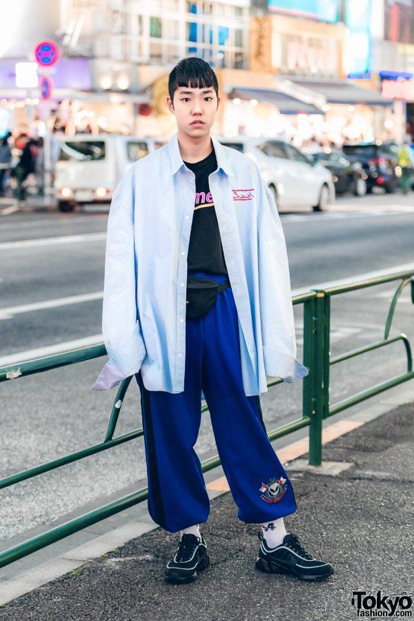 Casual Minimalist Streetwear in Harajuku w/ Martin Rose, Alltimers, Eastpak & Nike