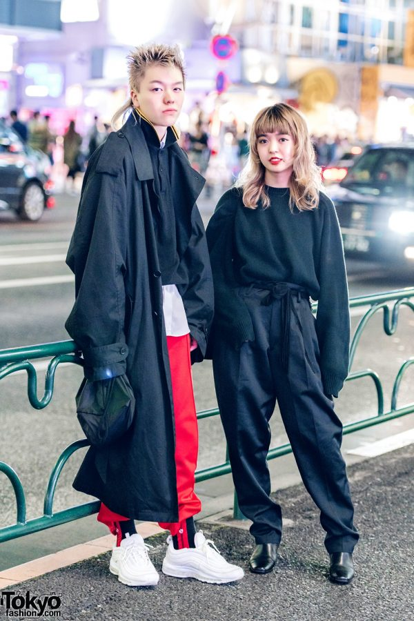 Harajuku Duo in Designer Streetwear and Dark Vintage Fashion