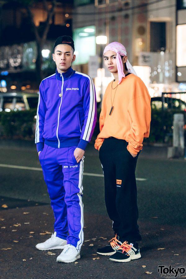 Harajuku Teens in Cool Sportswear Street Styles w/ Palm Angels, Heron Preston, Off-White x Nike, Gucci & Ambush