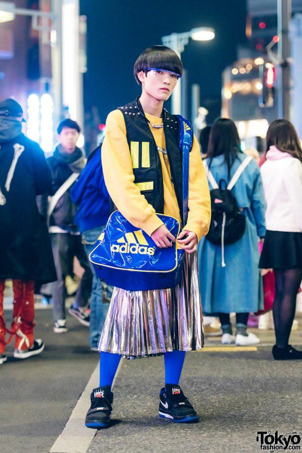 Colorful Street Fashion w/ Resale Clothing, Adidas Bag & Nike Sneakers