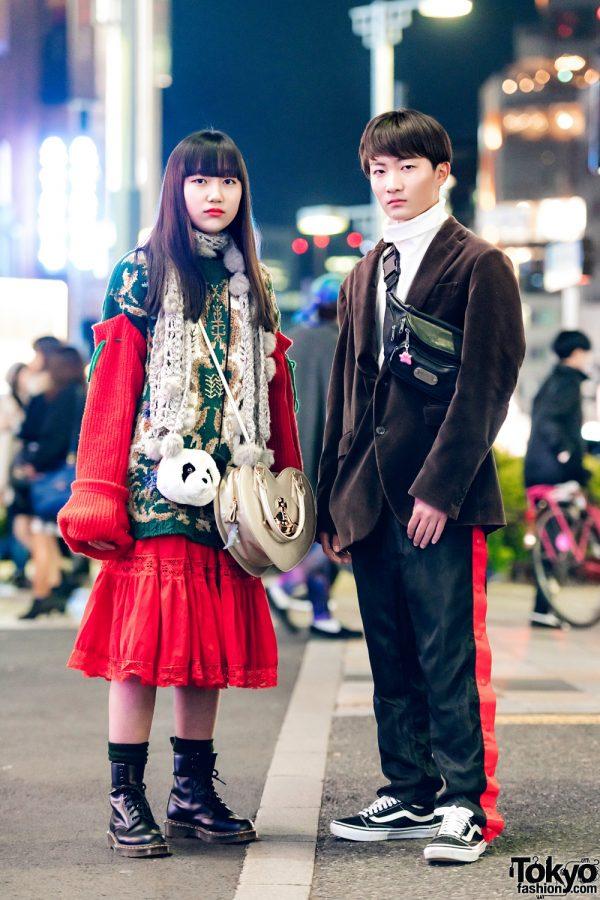 Harajuku Duo in Color-Coordinated Fashion w/ Kinji, Faith Tokyo, Vivienne Westwood & Thank You Mart