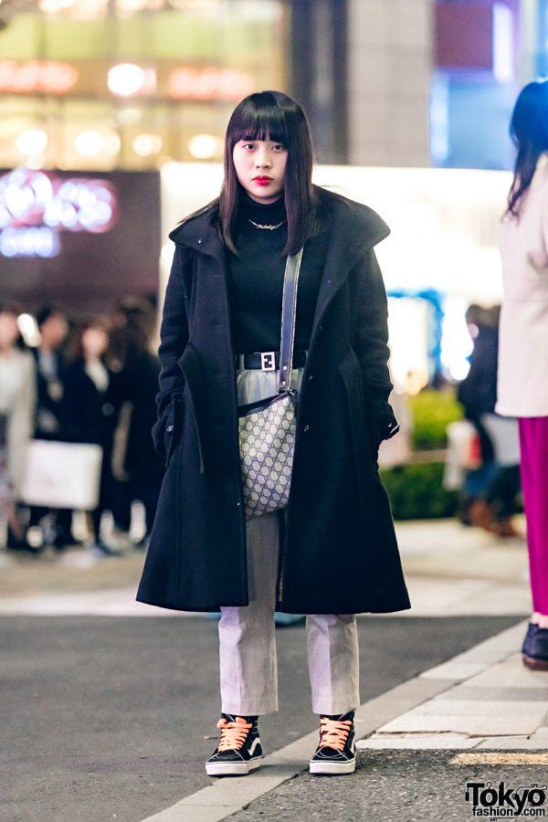 Japanese Chic Minimalist Winter Fashion w/ Burberry, Lacoste, Vans & Gucci