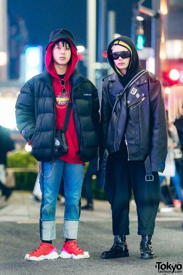 Kinji Shop Staffs in Cool Streetwear Outfits w/ Comme des Garcons Homme Plus, Bear, Big John Jeans, Adidas Original, Bershka, Vetements x Dr. Martens, Chrome Hearts & Maison Margiela