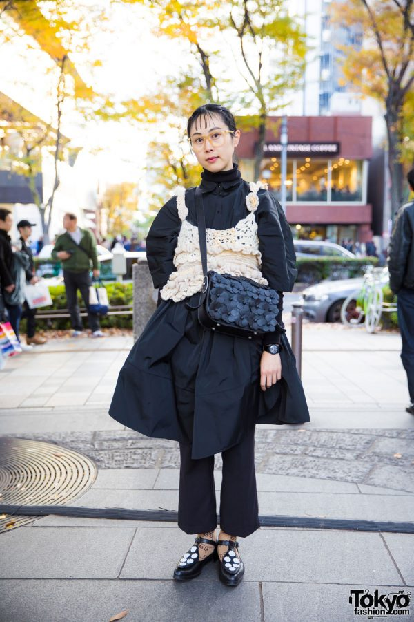 Japanese Monochrome Fashion in Harajuku w/ Tao Comme Des Garcons, Acne, Chin Mens & Tokyo Bopper