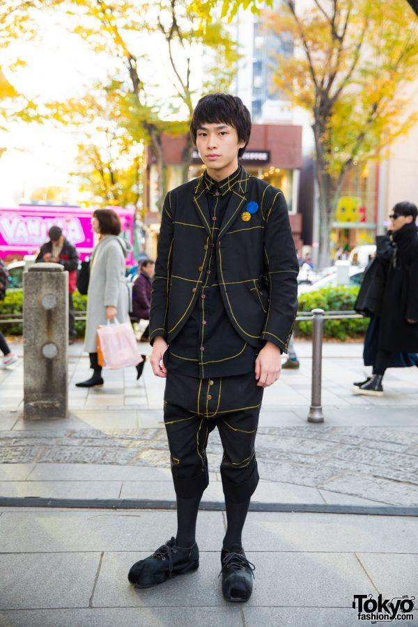 Harajuku Guy in Christopher Nemeth Street Style and Hiro Harajuku Shoes