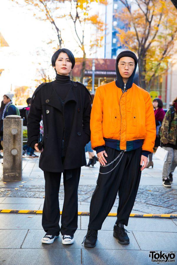 Harajuku Duo in Layered Winter Street Styles w/ Jeanasis, Sly, Nadia, Issey Miyake & Heelys
