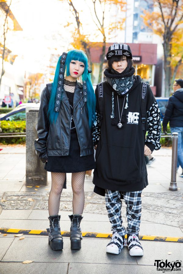 Blue Twin Tails & Harajuku Streetwear Styles by M:E, Morph8ne, Dolls Kill, Long Clothing, KTZ & Vivienne Westwood