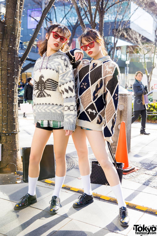 Vintage Holiday Sweater Fashion in Harajuku w  Zara Lace Up Shoes ... cb581e6e8