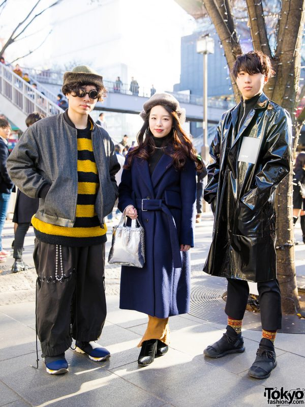 Harajuku Trio in Winter Street Styles w/ Comme des Garcons, Beams, Craig Green, Marni, Chrome Hearts, CA4LA, Kaiko, Cinoh, UNIQLO & More Brands