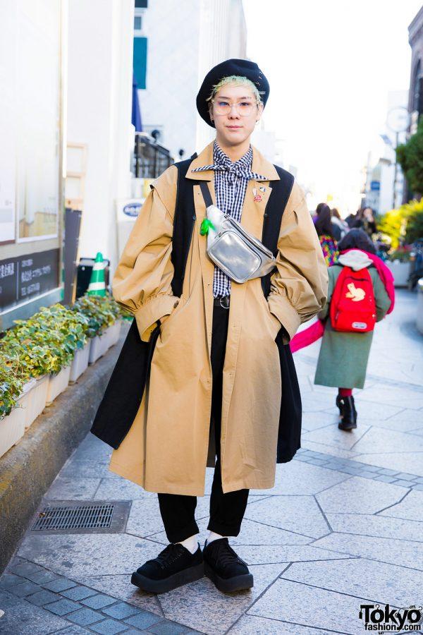 Green-Haired Harajuku Guy in Chic Winter Fashion w/ Style Nanda & Tokyo Bopper