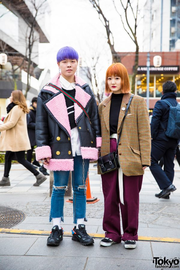 Harajuku Duo w/ Colorful Hair and Eye-Catching Street Styles