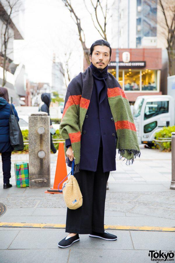 Stylish Harajuku Guy in Urbane Winter Fashion w/ Comoli, Clane Homme & Urban Research