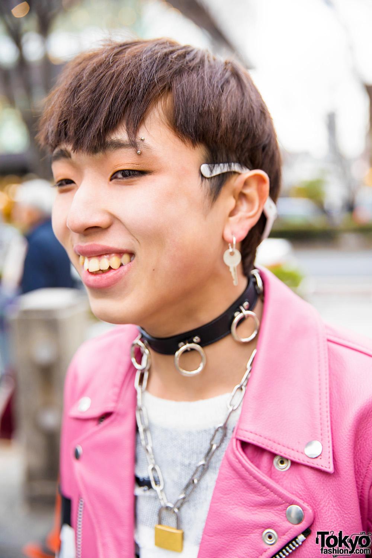 Harajuku Guys In Leather Jackets Amp Skinny Pants Streetwear