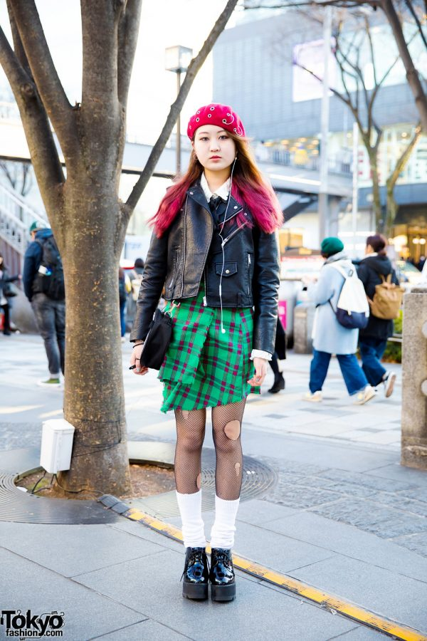 Harajuku Girl in Rocker Chic Street Style w/ Bubbles, Zara, Eria/Area & Little Sunny Bites