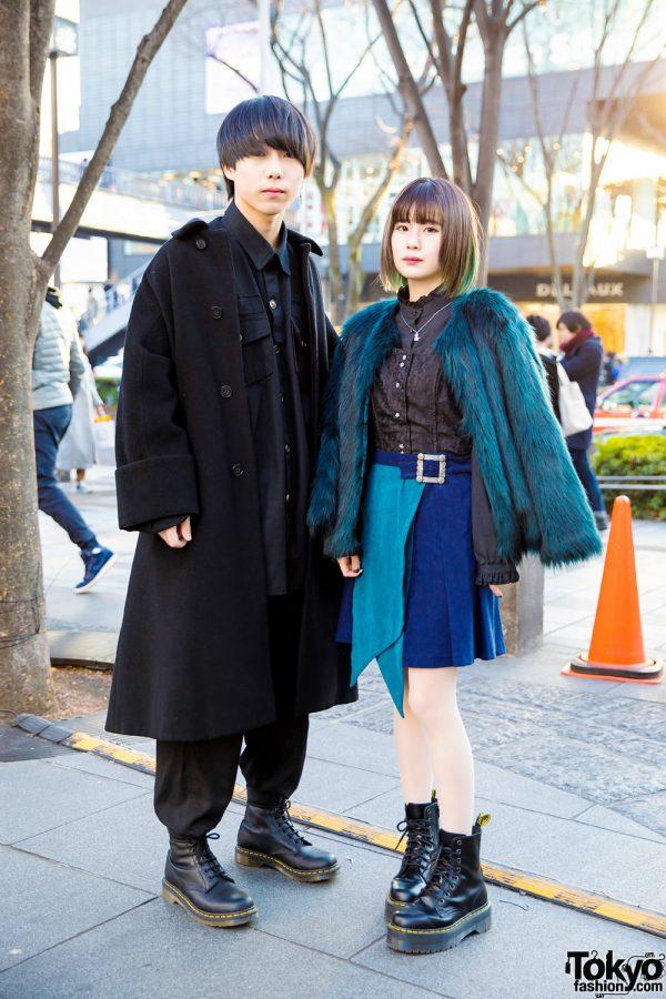 Harajuku Couple in Stylish Street Fashion w/ Comme des Garcons, Never Mind the XU, Hare, Amijed, Pameo Pose & Vivienne Westwood