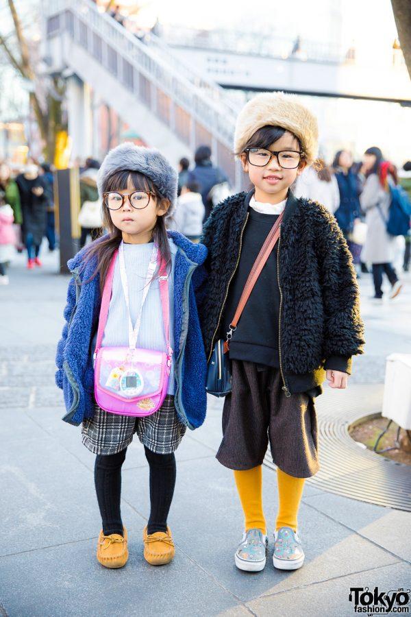 Adorable Harajuku Kids Winter Fashion Street Styles w/ Markey's, Disney Magic Castle, GU & Vans