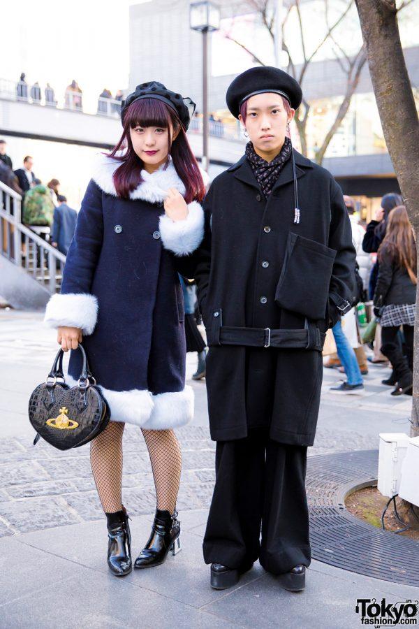 Monochromatic Winter Street Fashion w/ Y's, Comme des Garcons, Christian Dada, Mihara Yasuhiro, Pameo Pose, Vivienne Westwood, Jeffrey Campbell & Arth