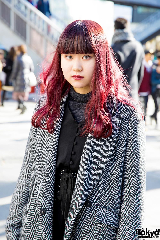 Harajuku Trio In Colorful Hair Amp Winter Coat Fashion W