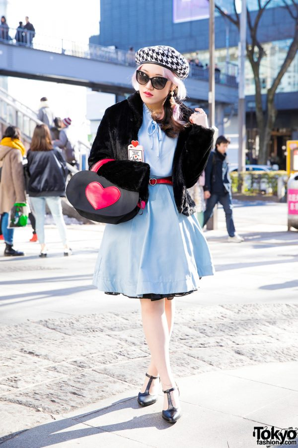 Moth in Lilac Guitarist in Retro Harajuku Street Fashion w/ titty&Co., Attagirl, Vivienne Westwood & Mary Quant