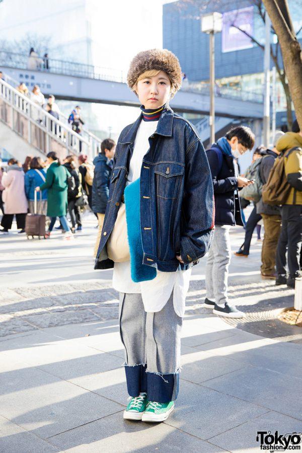 Winter Street Style w/ Facetasm, Jaeha, Hender Scheme, Converse, Yaga & Mifune