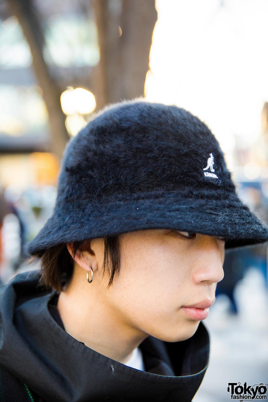 japanese streetwear style w kidill coat kangol bucket